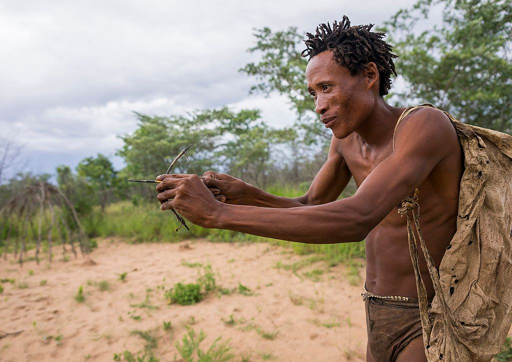 Bushman-With-A-Small-Bow-They-Use-To-Declare-Their-Love-Tsumkwe-Namibia